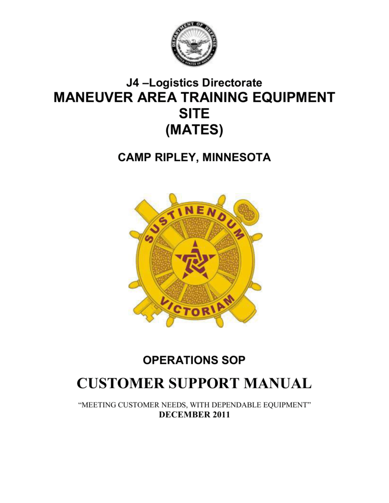Customer Support Manual Minnesota National Guard