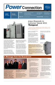 Argus Responds to Customer Needs With Tempest