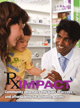 Community pharmacy fills gaps in access and affordability for