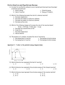 Reaction Rates Worksheet With Answers - Kidz Activities