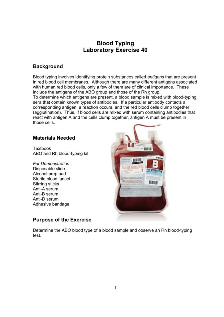 Blood Typing Lab