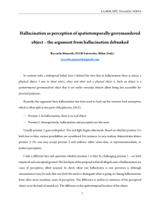 Hallucination as perception of spatiotemporally