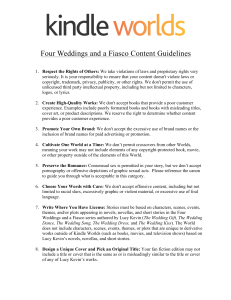 Four Weddings and a Fiasco Content Guidelines