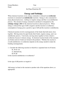 4 Energy and Enthalpy