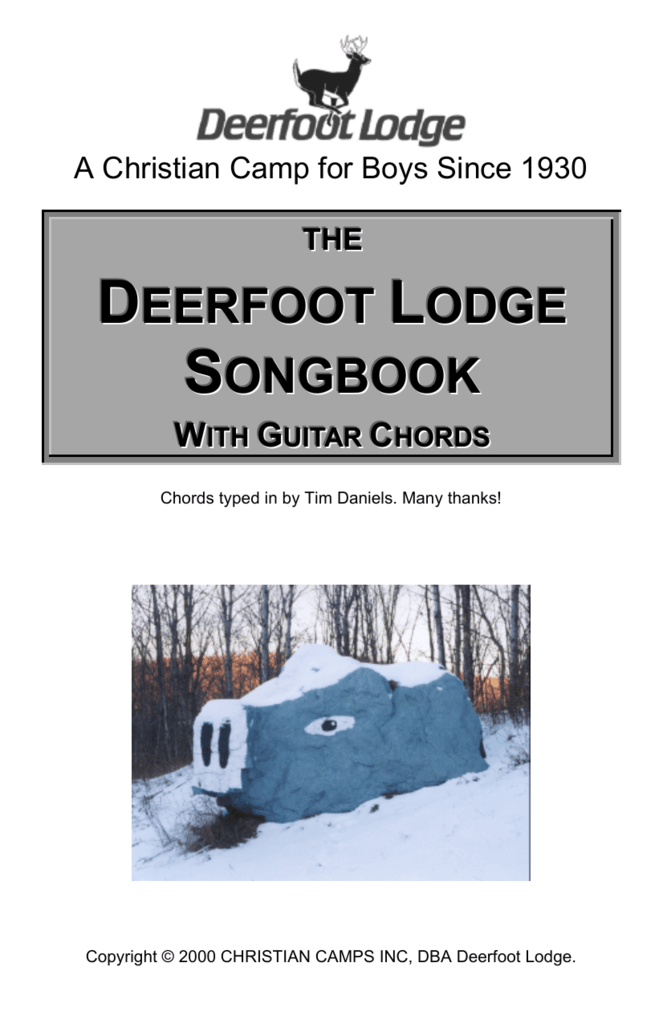 Deerfoot Lodge Songbook With Chords
