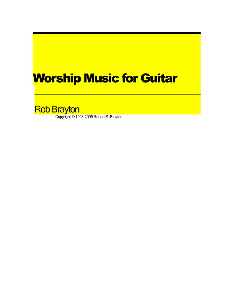 Worship Music For Guitar