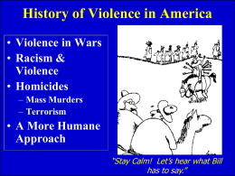 History of Violence in America