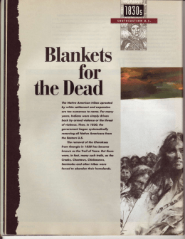 Article on the Trail of Tears