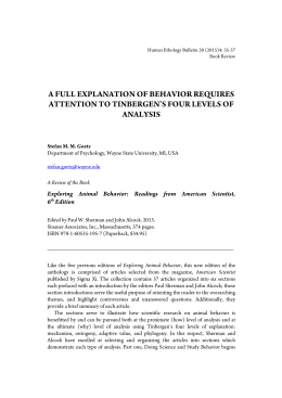 niko tinbergens four questions essay Ethological approach to autism spectrum disorders - download as pdf file (pdf), text file (txt) or read online epjournal.