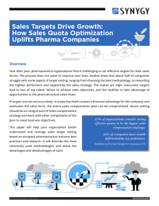 Sales Targets Drive Growth: How Sales Quota Optimization