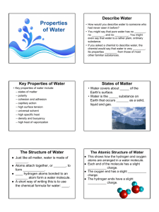Guided Notes - Properties of Water