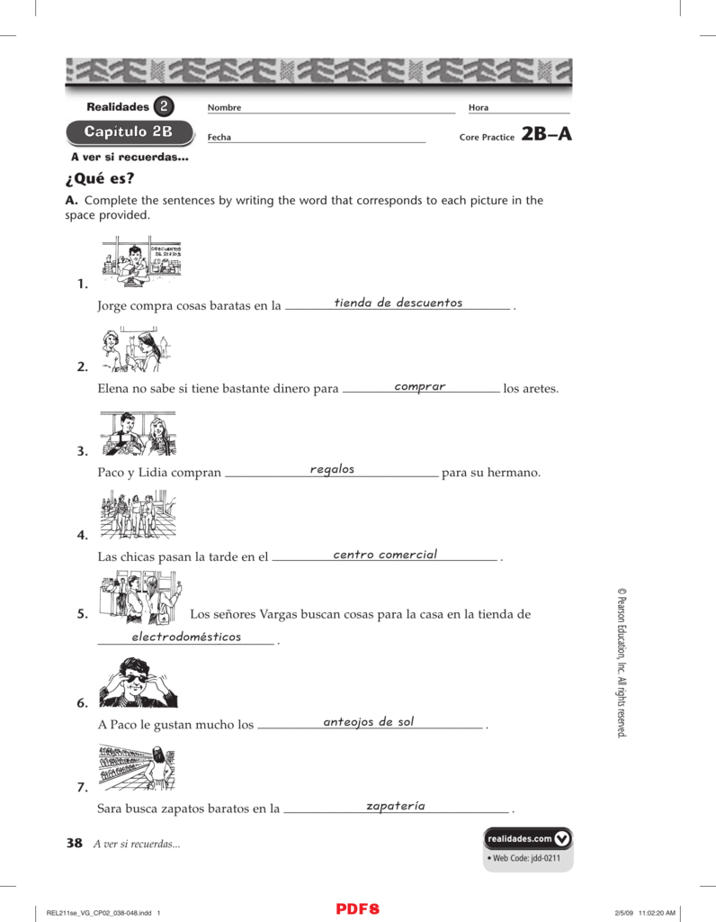 Workbooks practice workbook realidades 3 answers : Qué es? tienda de descuentos comprar regalos centro comercial