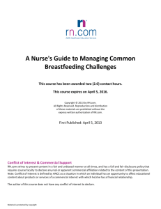A Nurse's Guide to Managing Common Breastfeeding