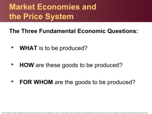 Market Economies and the Price System