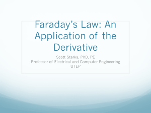 Faraday's Law: An Application of the Derivative