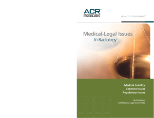 Medical-Legal Issues - American College of Radiology