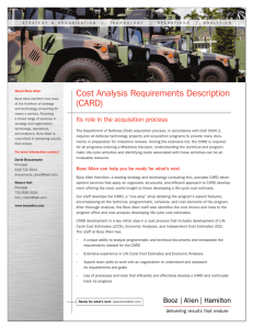 Cost Analysis Requirements Description
