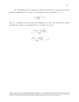 4.36 This problem asks that we determine the ASTM grain