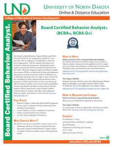 Board Certified Beha vior Analyst