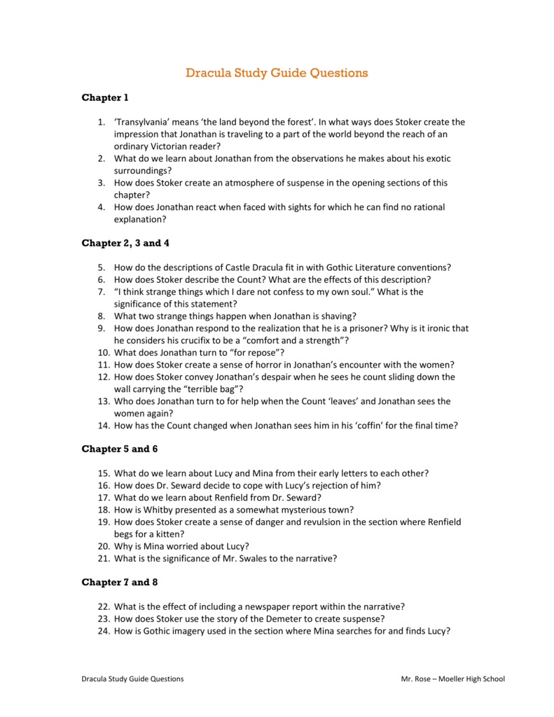dracula study guide questions rh studylib net dracula study guide questions answers dracula study guide questions and answers chapters 1-2