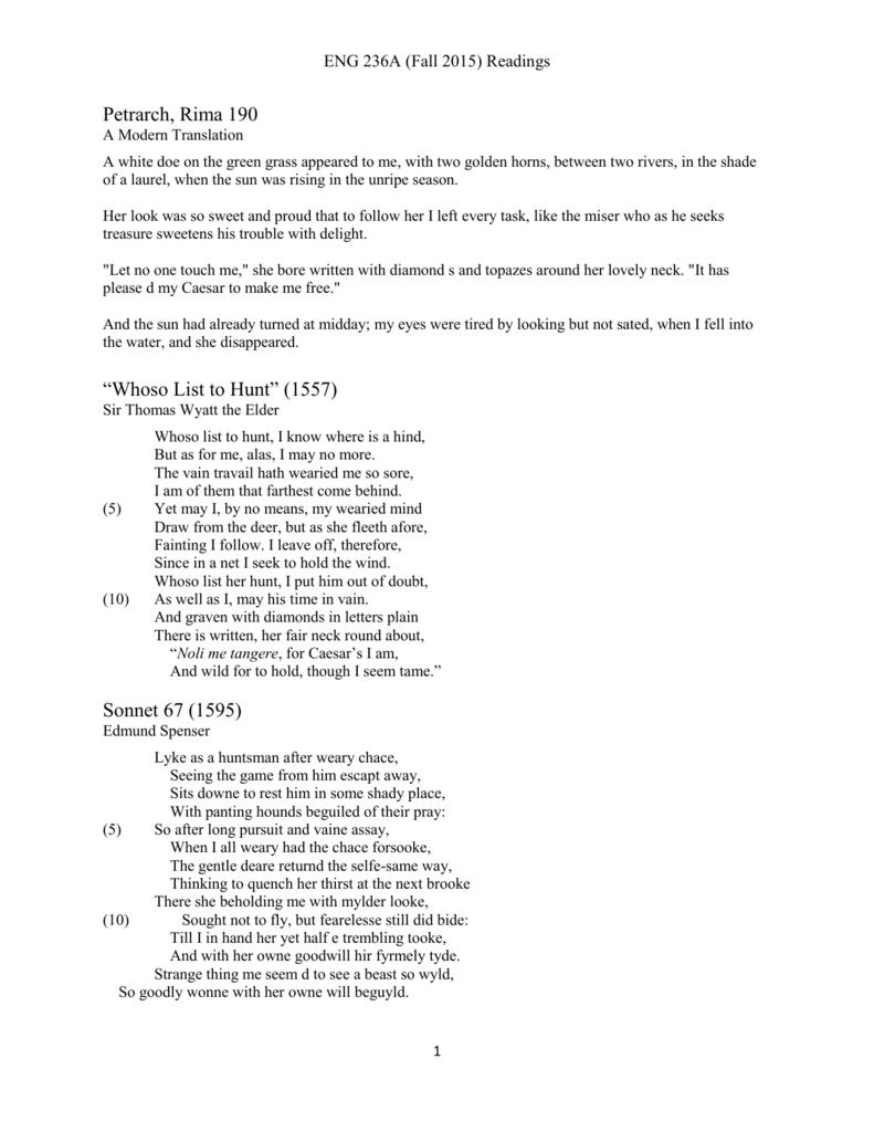 sonnet 67 edmund spenser analysis