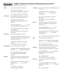 vocabulary workshop level e unit 2 answers