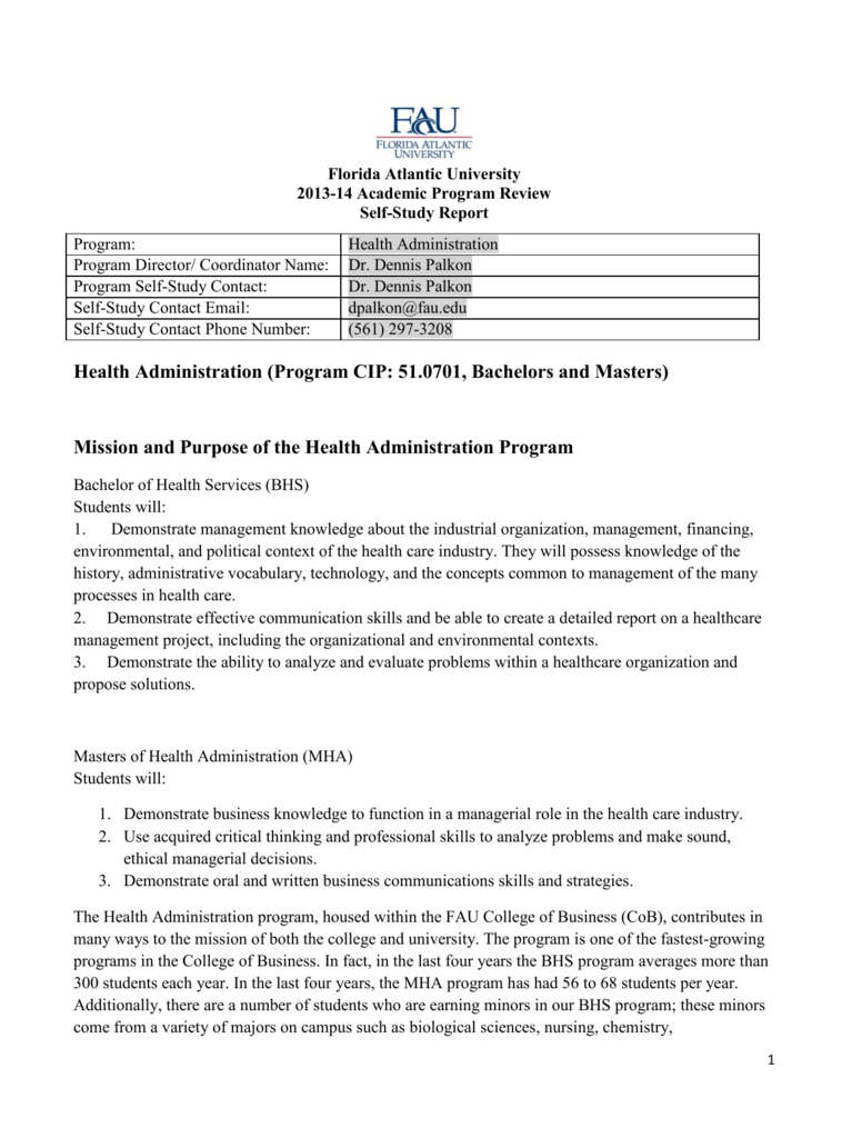 Health Administration Program Cip 510701 Bachelors And