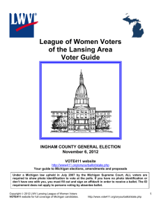 Ingham County - League of Women Voters of the Lansing Area