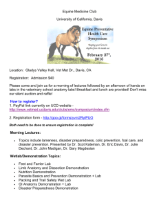 Equine Medicine Club University of California, Davis Location