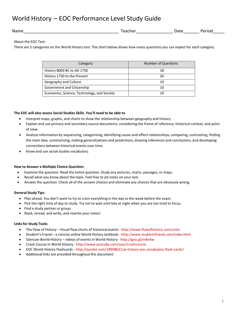 world history eoc performance level study guide rh studylib net