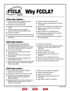 Why FCCLA?
