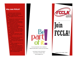 Why Join FCCLA?