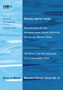 Virtual water trade - Water Footprint Network