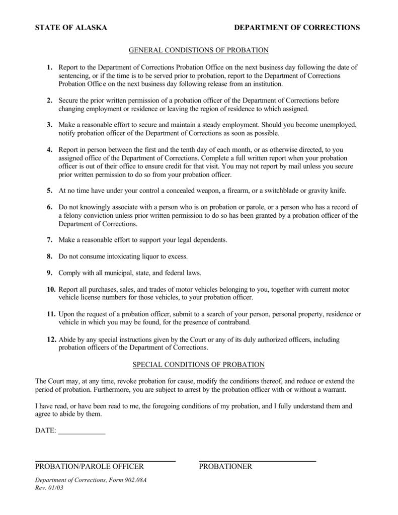 probation officer report