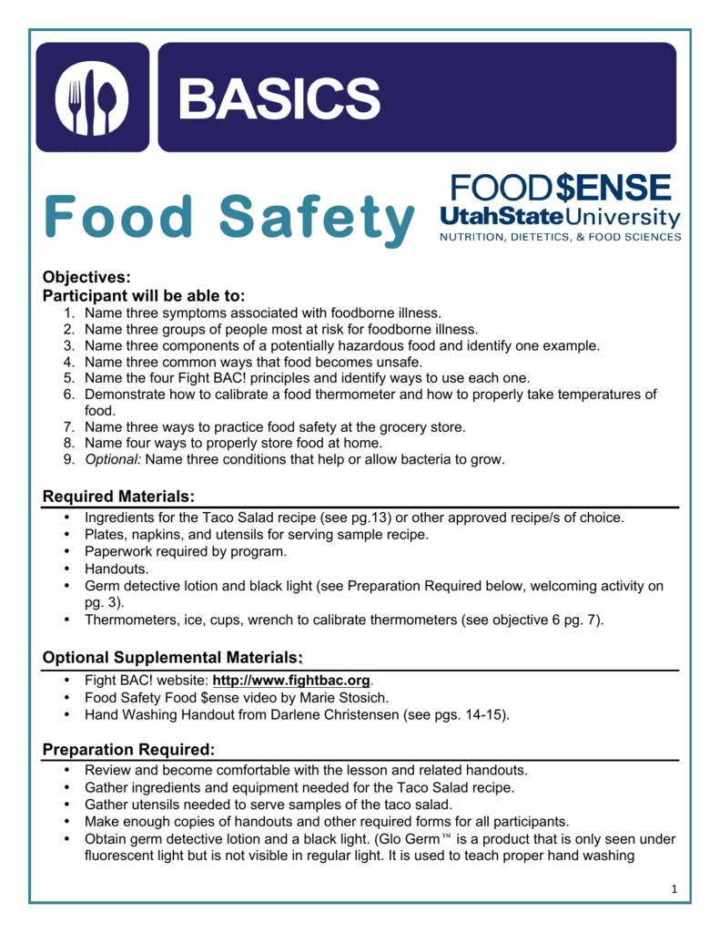 Food Safety - Utah State University Extension