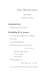 Class: Bid/Ask bounce - Dean P. Foster's home page