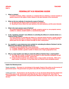 federalist #10 reading guide