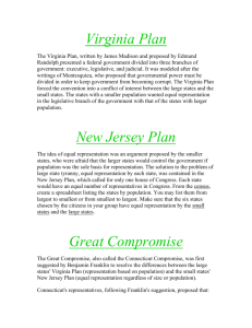 Virginia Plan New Jersey Plan Great Compromise