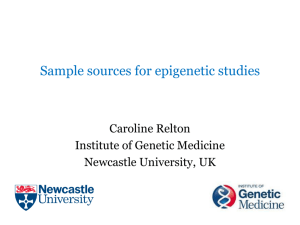Sample sources for epigenetic studies