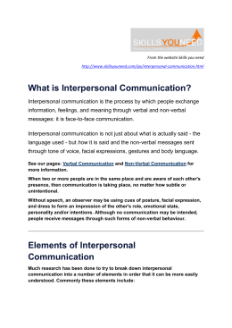 What is Interpersonal Communication? Elements of Interpersonal