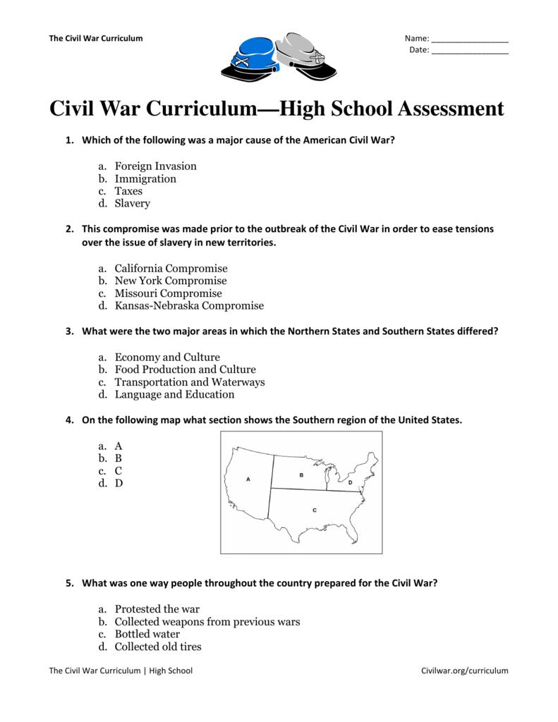 outbreak of the civil war essay