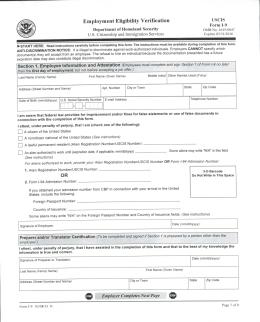 Employment Eligibility Verification Sample F1 Student Academic ...
