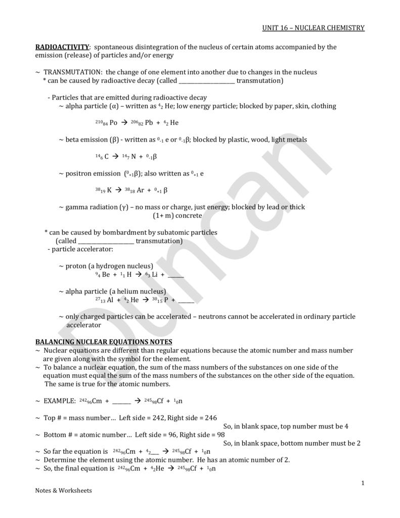 Notes & Worksheets