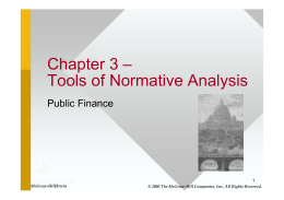 Chapter 3 – Tools of Normative Analysis