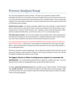 Process Essay Examples, Outline, Advantages and Writing Guide : Current School News