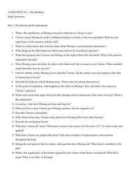 fahrenheit 451 part 1 essay questions