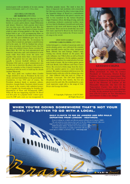 'Know your Composers' continued + Advertisement: Varig
