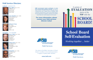 School Board Self-Evaluation - Illinois Association of School Boards