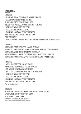 Faithful Lyrics - Binion, Dufrene, Edge