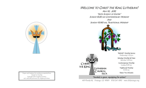 welcome to christ the king lutheran!